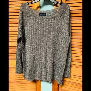 Holiday sweater jones New York 1x 2X silver gray